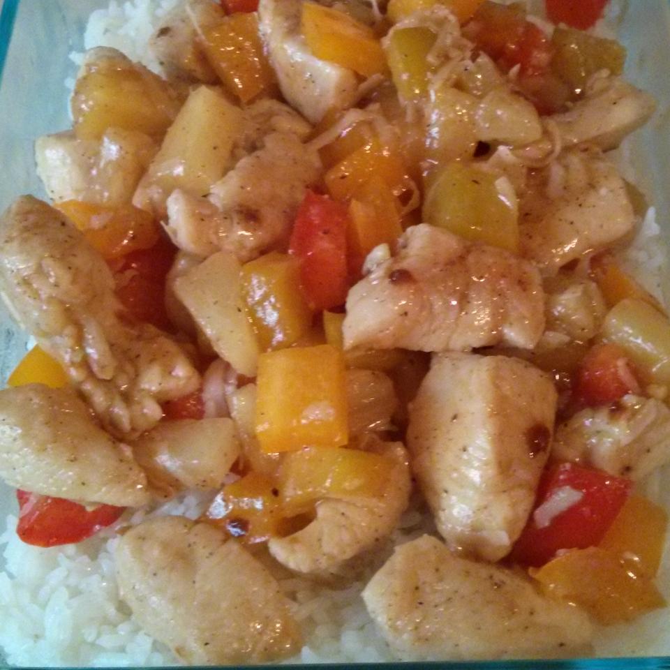 Joel's Jerk Chicken Pineapple Pasta Hoa Nguyen
