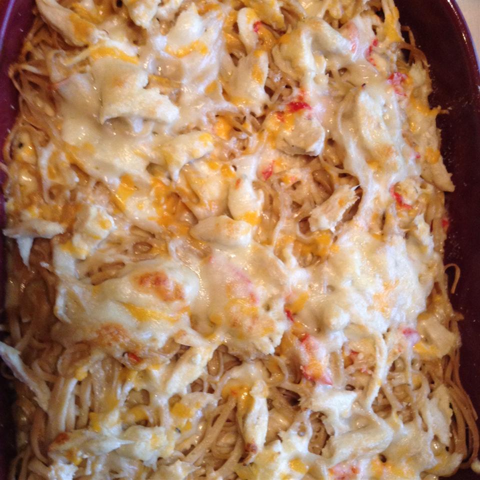Cheesy and Creamy Chicken Tetrazzini