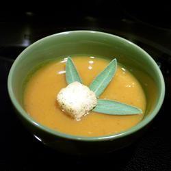 Creamy Butternut Squash With Cinnamon Soup