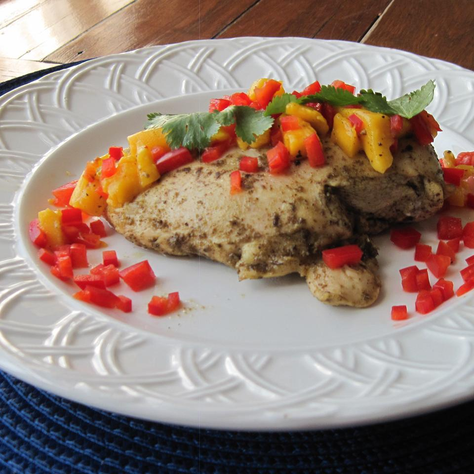 Spicy Grilled Chicken with Mango Salsa Cynthia Ross