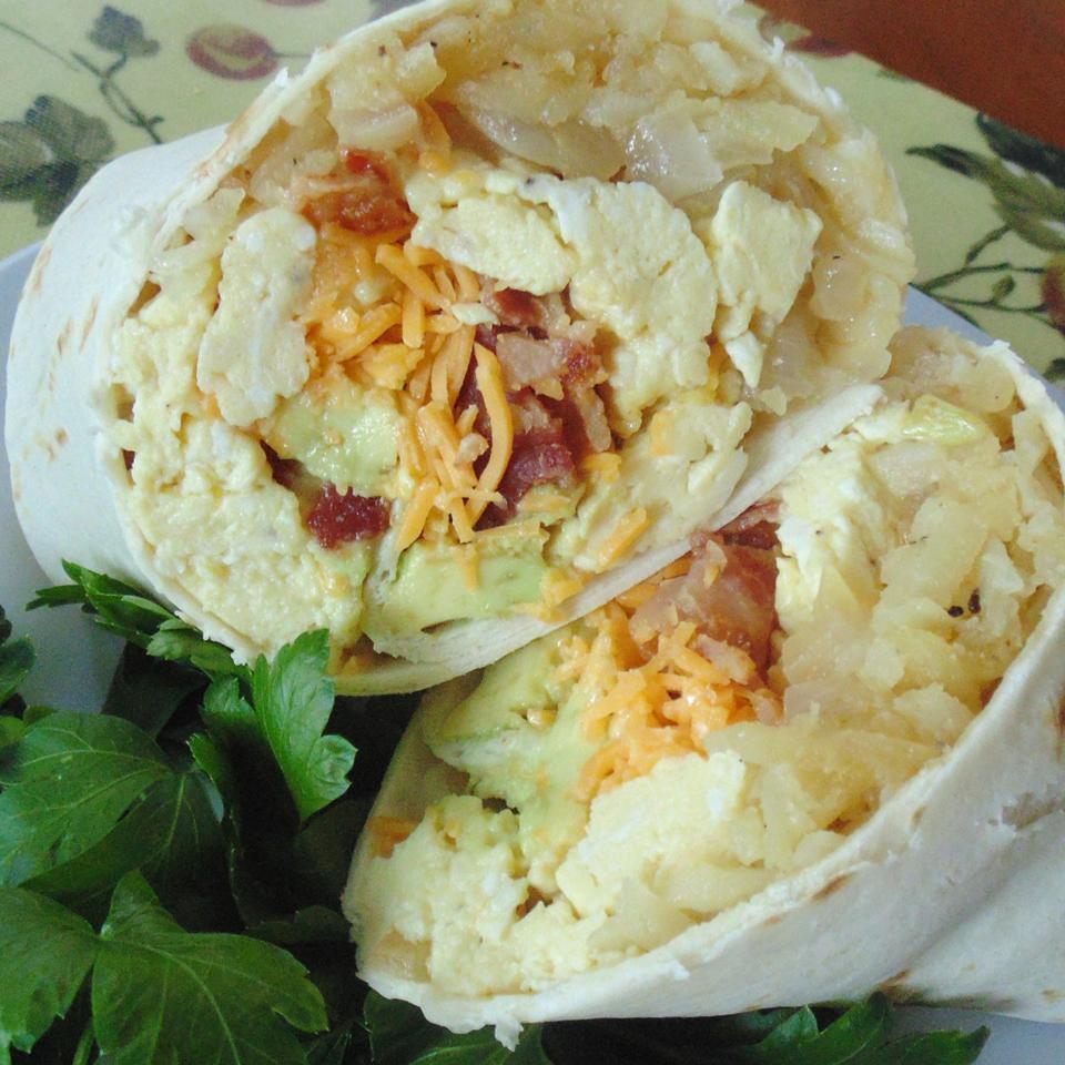 Flannery's Bacon Avocado Burritos