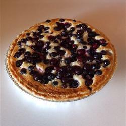 Lemon Blueberry Custard Pie Karen McLaughlin