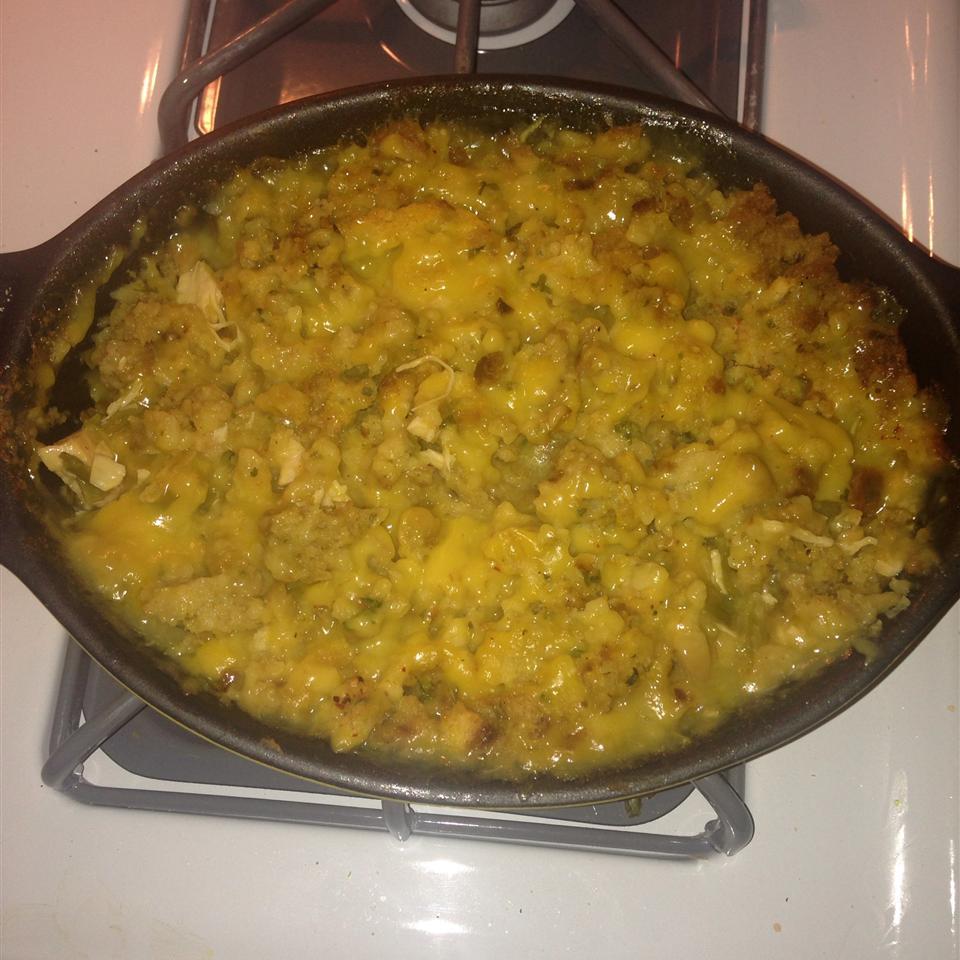 Chicken, Stuffing and Green Bean Casserole