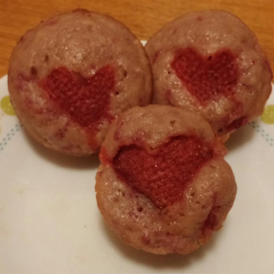 Valentine's Day Strawberry Muffins Mab Ryan