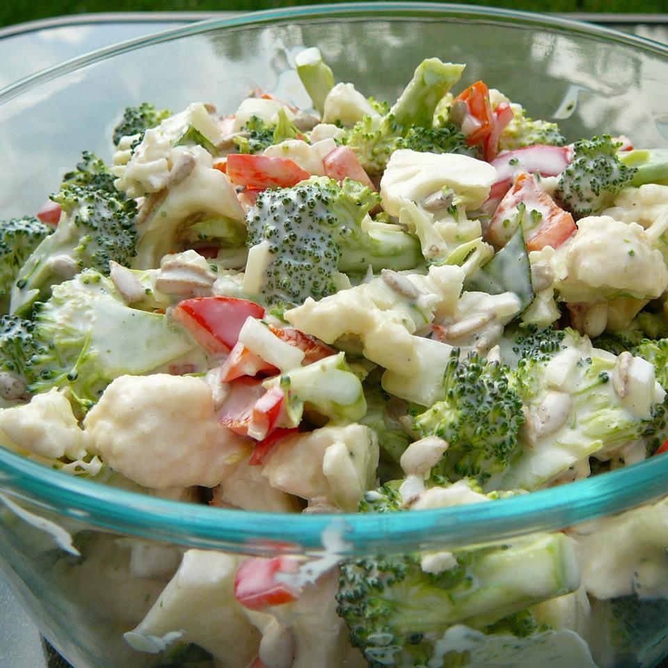 Broccoli Cauliflower Pepita Salad Sarah O