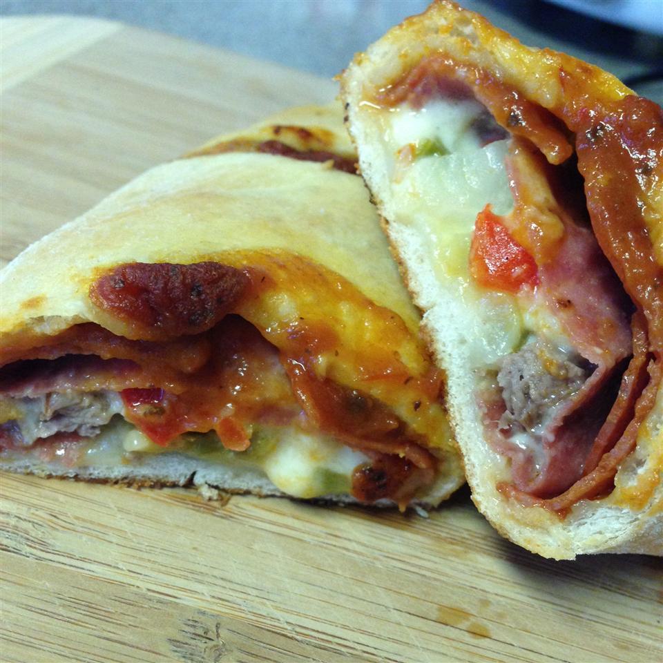 Ham and Cheese Stromboli supermc