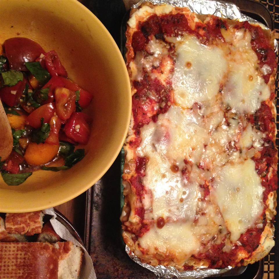 Healthier World's Best Lasagna nicole michelle
