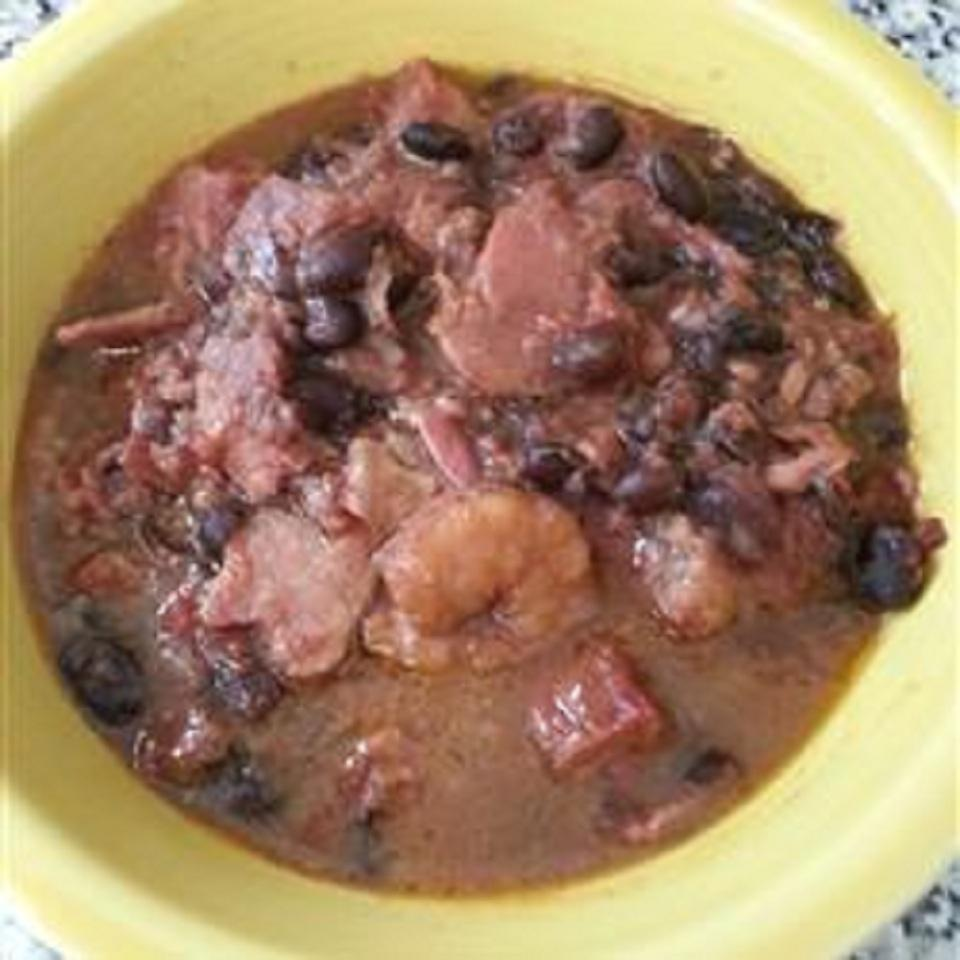 Leftover Ham and Shrimp Slow Cooker Gumbo limeshmd