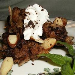 Chocolate Custard Bread Pudding