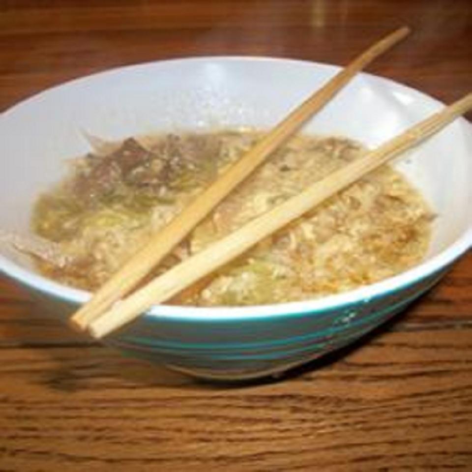 Low-Cholesterol Egg Drop Noodle Soup Bippi