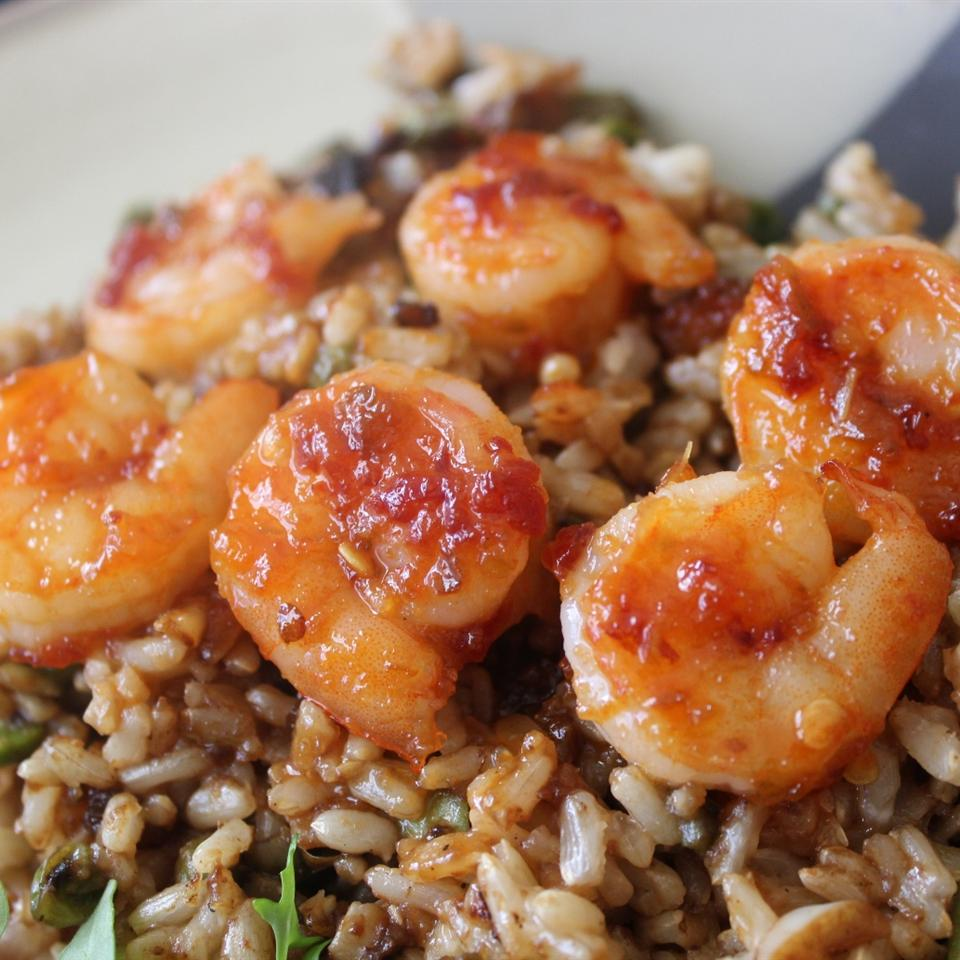 Sweet and Spicy Grilled Shrimp mommyluvs2cook