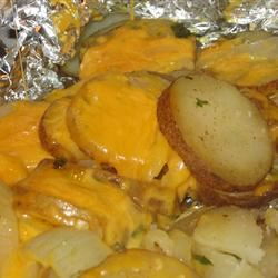 Grilled Garlic Potatoes mommyluvs2cook