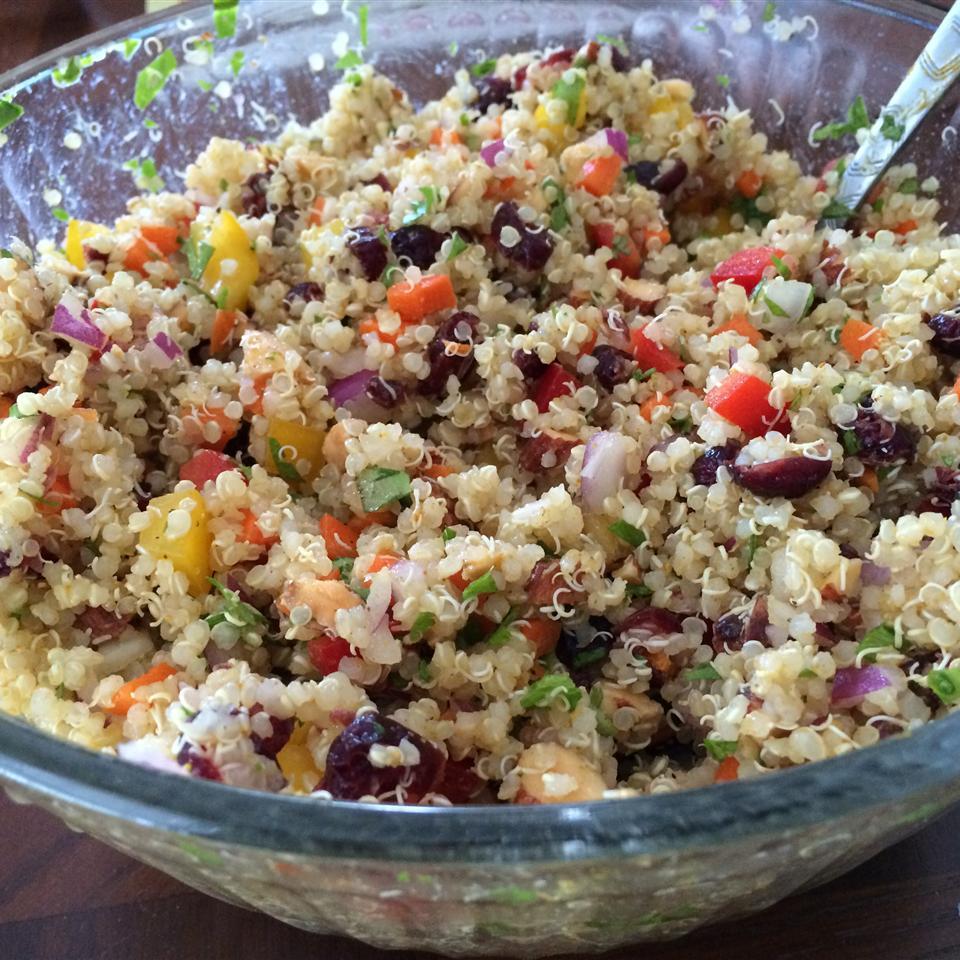Cranberry and Cilantro Quinoa Salad Becky Stinnett