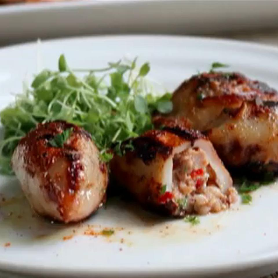 Grilled Sausage-Stuffed Calamari Chef John