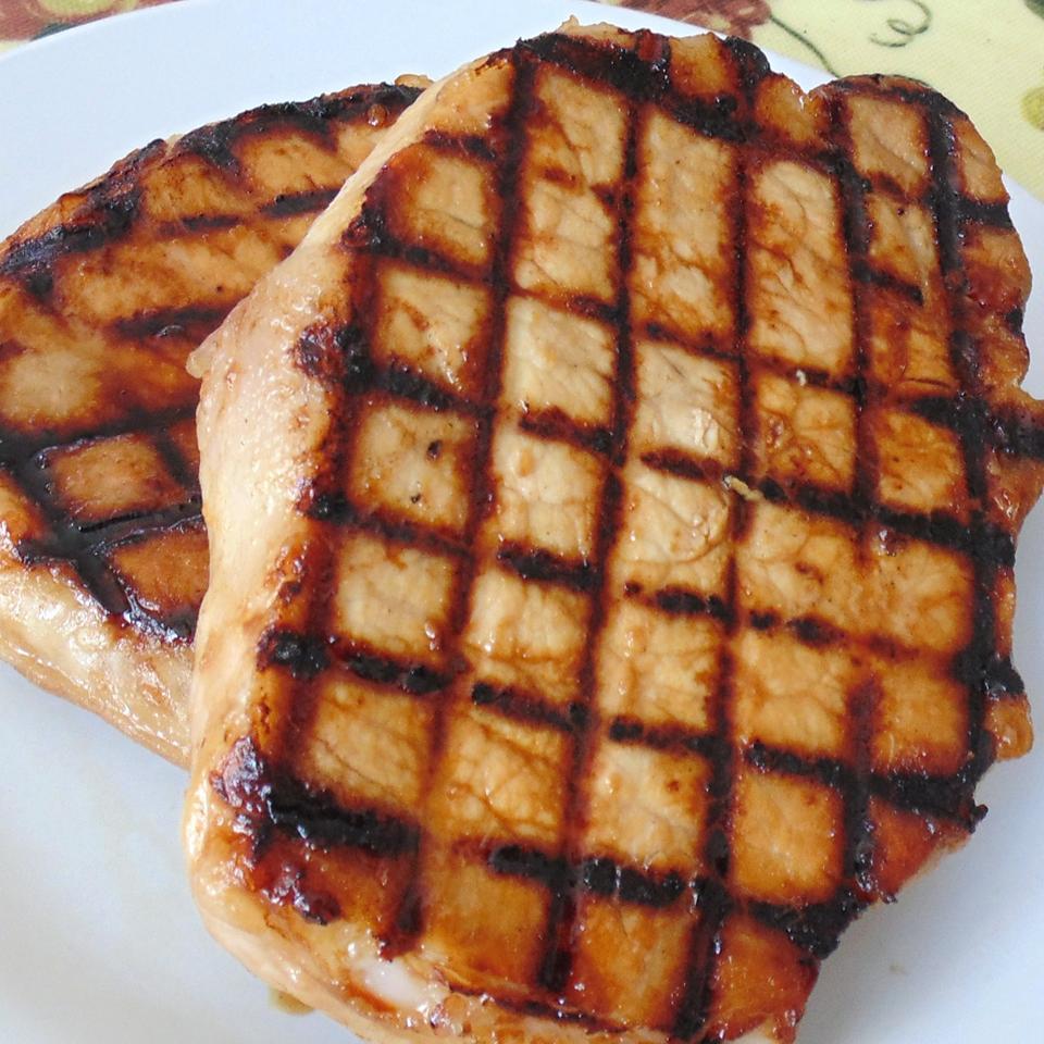 Dijon Grilled Pork Chops Christina