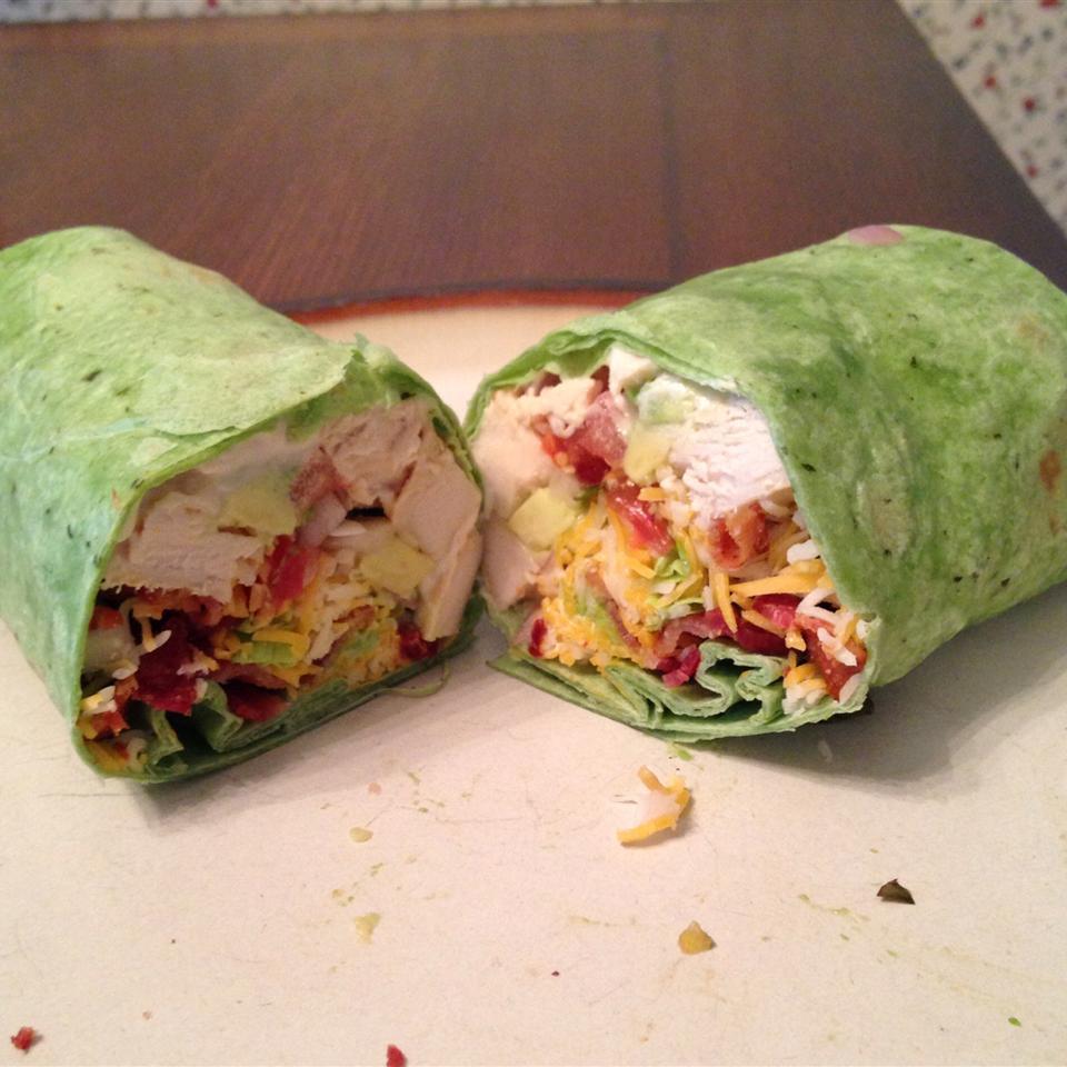 California Club Chicken Wraps liz