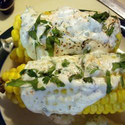 Sauteed Corn on the Cob With Chili-Lime-Cilantro Spread MBKRH