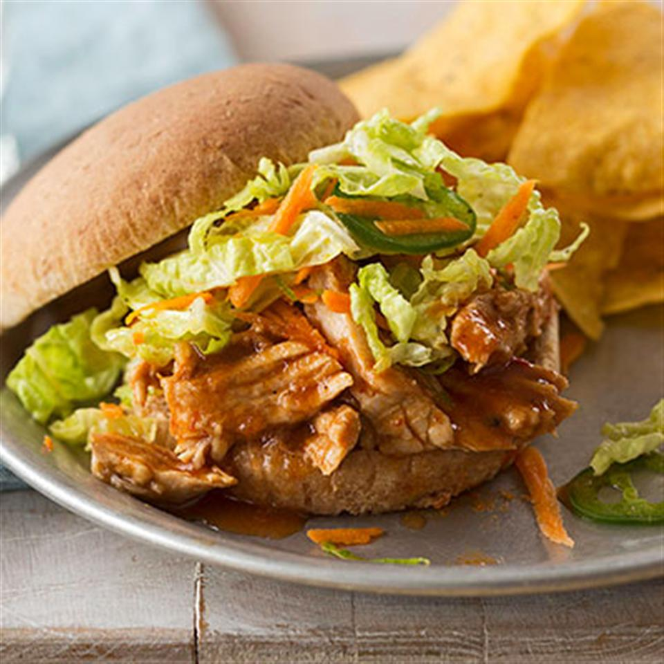 Slow Cooker BBQ Pulled Pork Sandwiches Trusted Brands