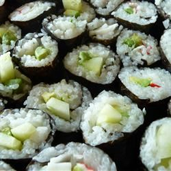 Cucumber and Avocado Sushi bjotter