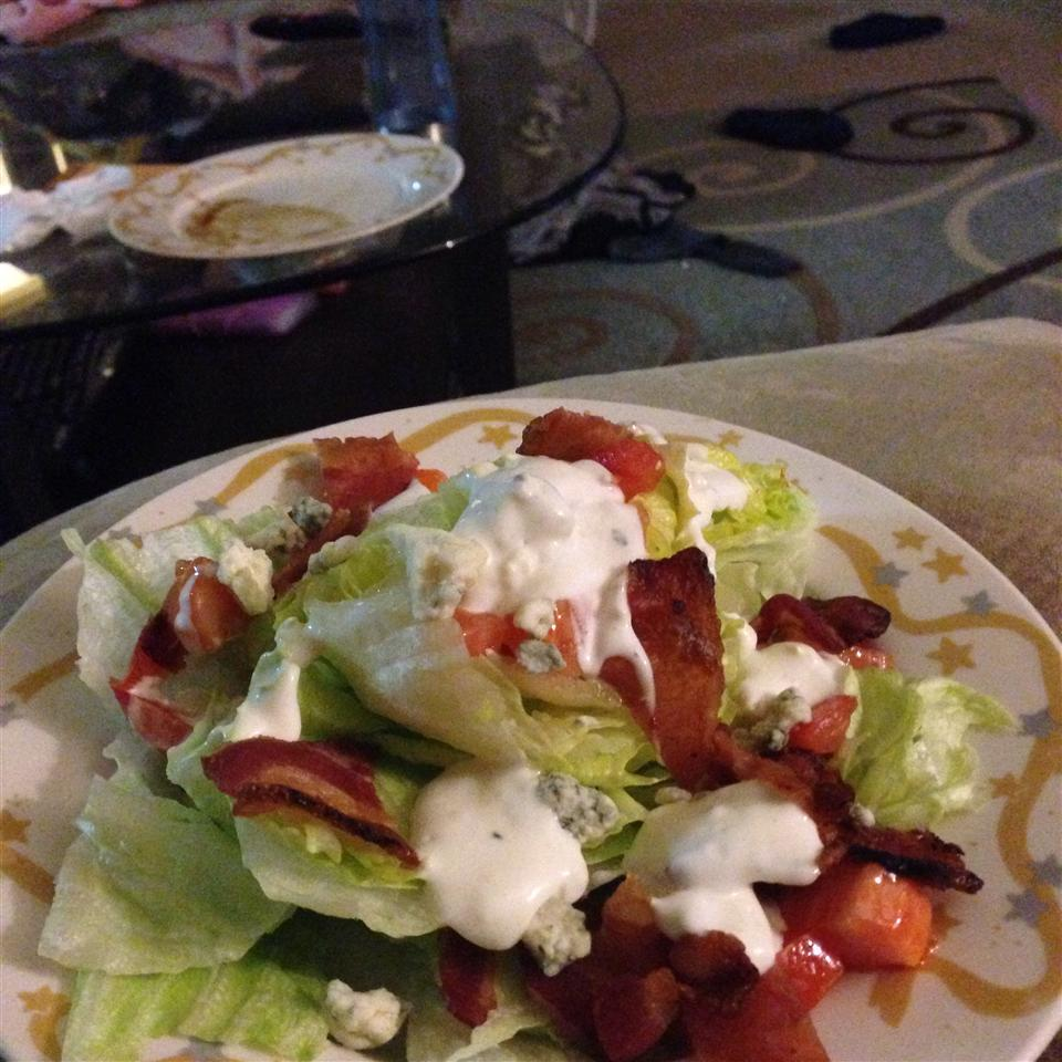 Wedge Salad with Elegant Blue Cheese Dressing Venuscassidy9