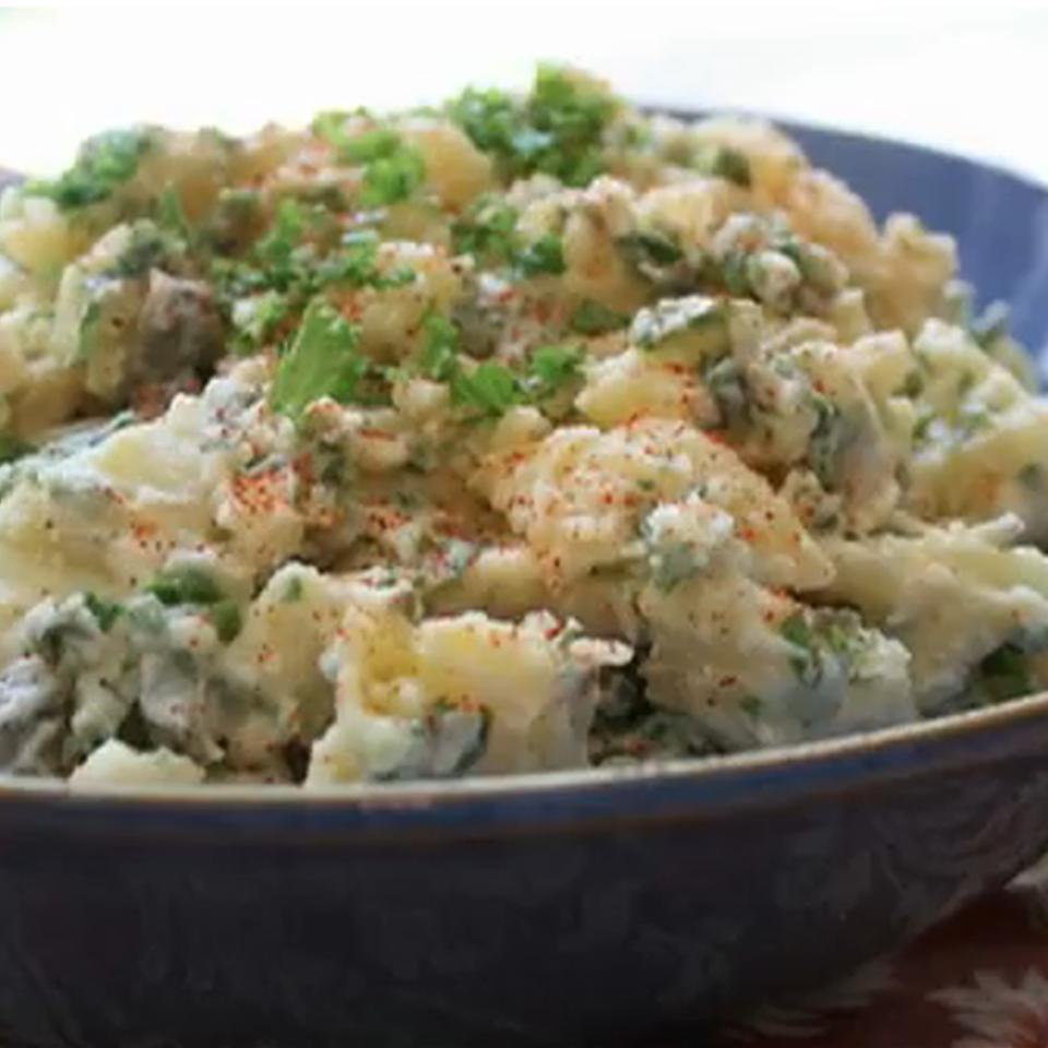 Potato and Mustard Greens Salad Chef John