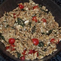 Elegant Orzo with Wilted Spinach and Pine Nuts