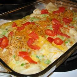 Tuna Broccoli Roll Up Casserole