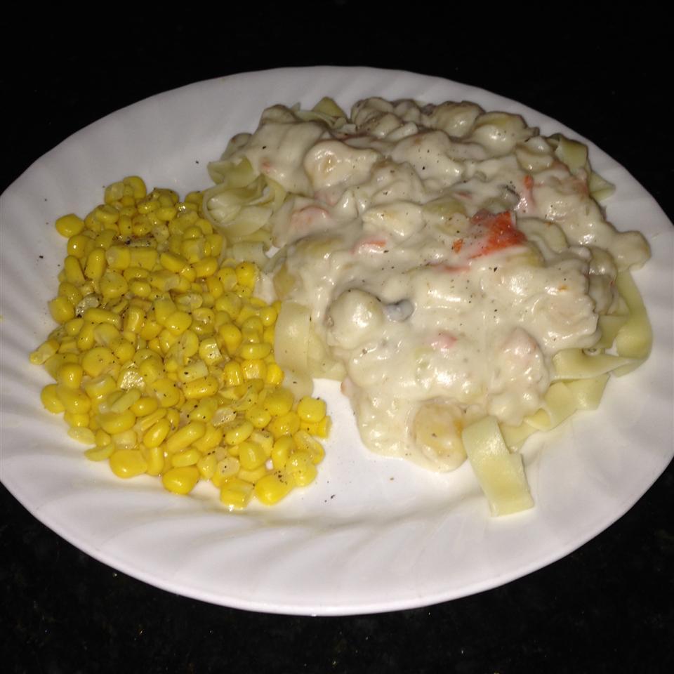 Easy Seafood Fettucini Cece??