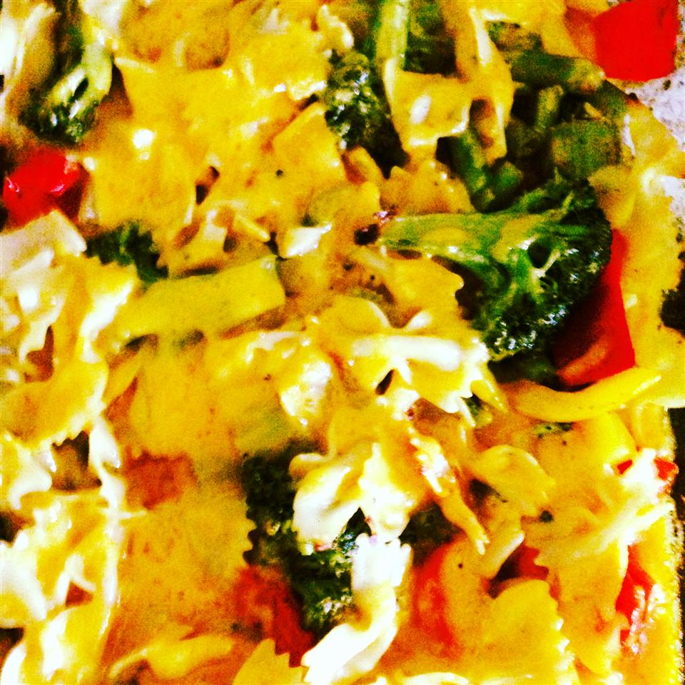 Cheddar and Vegetable Pasta Bake Terrisha