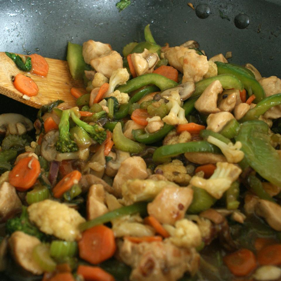 Stir-Fried Vegetables with Chicken or Pork
