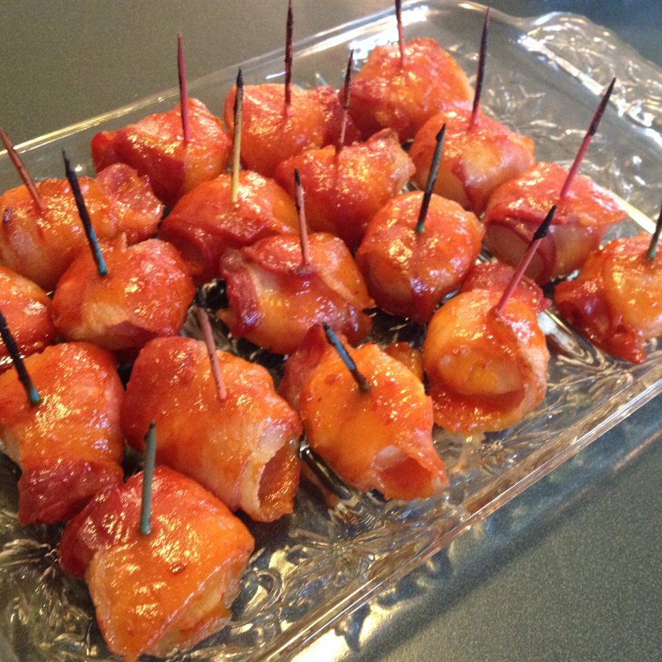 Spicy Bacon-Wrapped Water Chestnuts II Abby Stocker