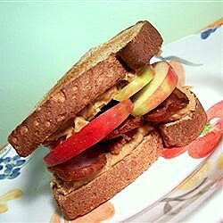 peanut butter bacon and apple sandwiches recipe