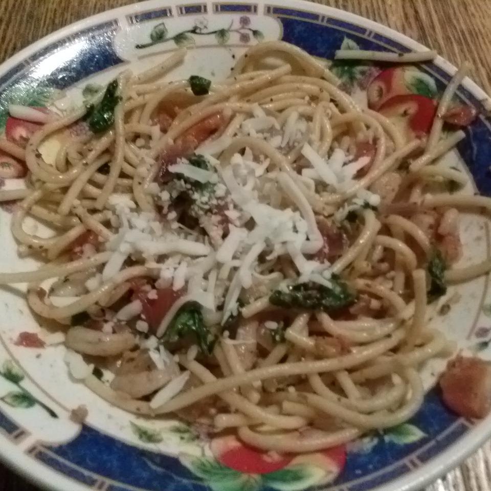 Fresh Tomato Shrimp Pasta Mrs.Flores84