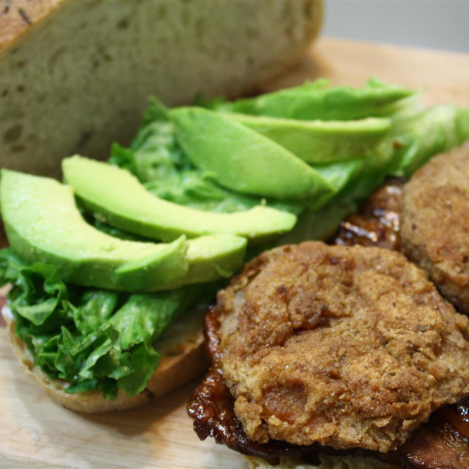 Grilled Pork Belly BLT with Fried Tomatoes and Avocado Avocados from Mexico