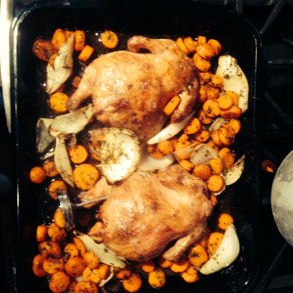 Herb-Roasted Cornish Hens