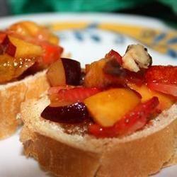 Sweet Summer Fruit Bruschetta