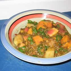 Pumpkin Curry with Lentils and Apples thamesarino