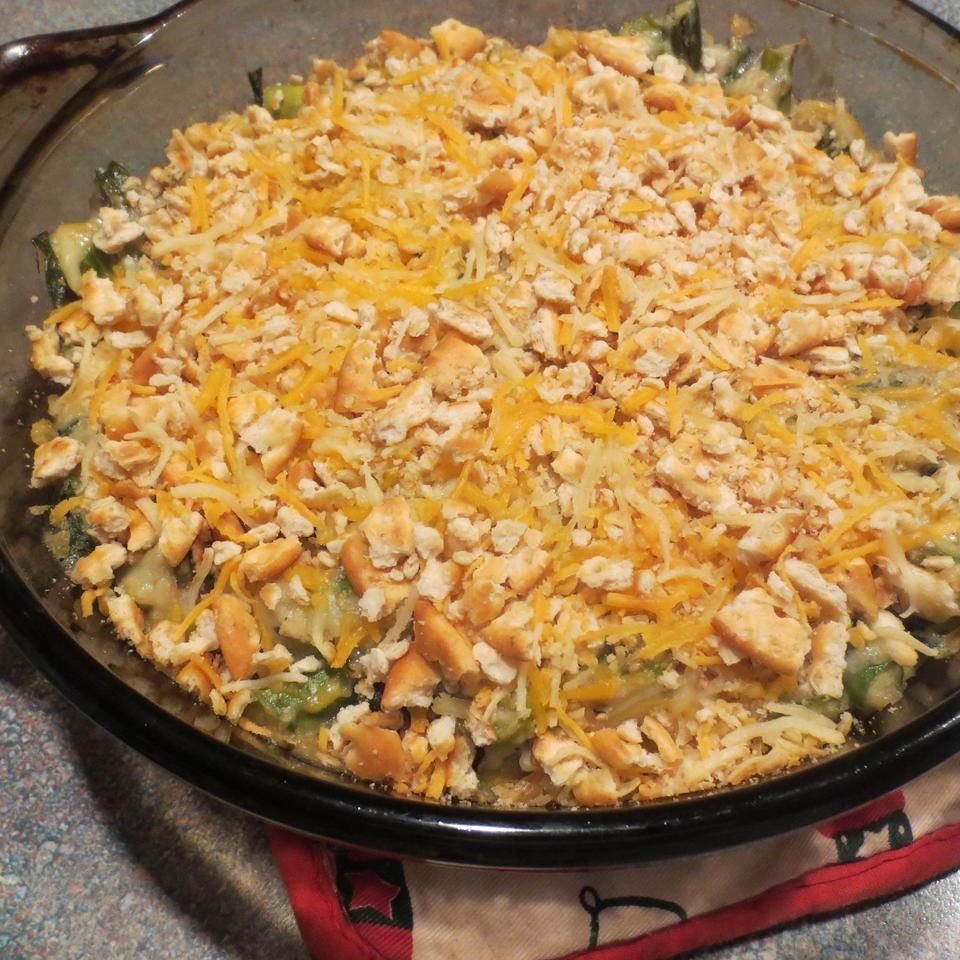 Bo's Asparagus Casserole Lady at the Stove