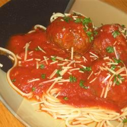 Jenn's Out Of This World Spaghetti and Meatballs mommyluvs2cook