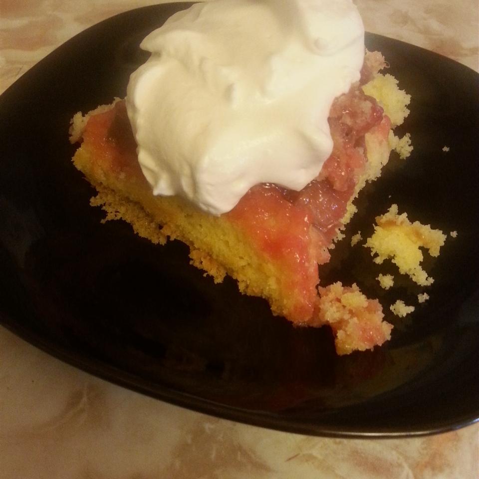 Upside Down Rhubarb Cake filipinogirl