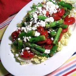 Fresh Asparagus, Tomato, and Feta Salad SunnyByrd