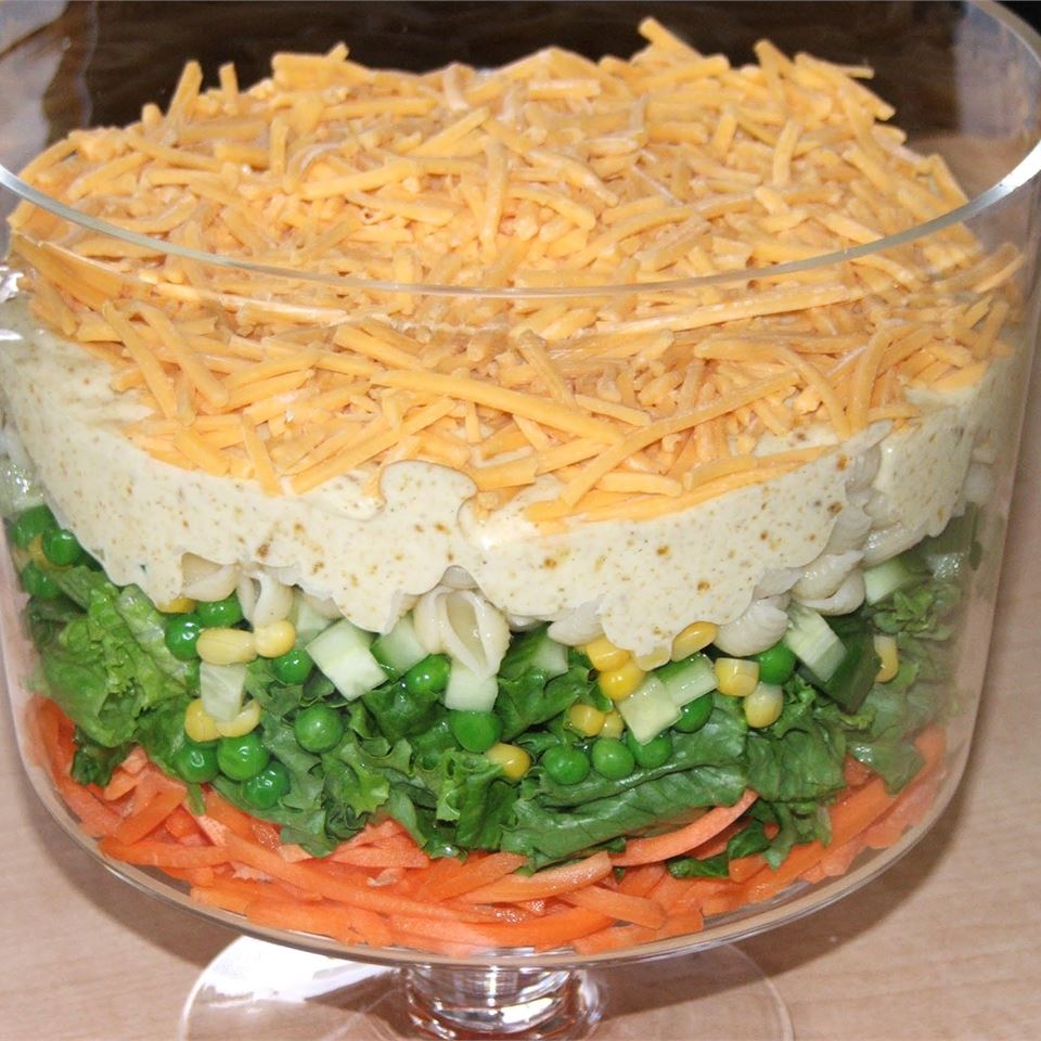 Spicy English Seven-Layer Salad Amy U