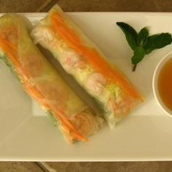 Thai Basil Rolls with Hoisin-Peanut Sauce Connie