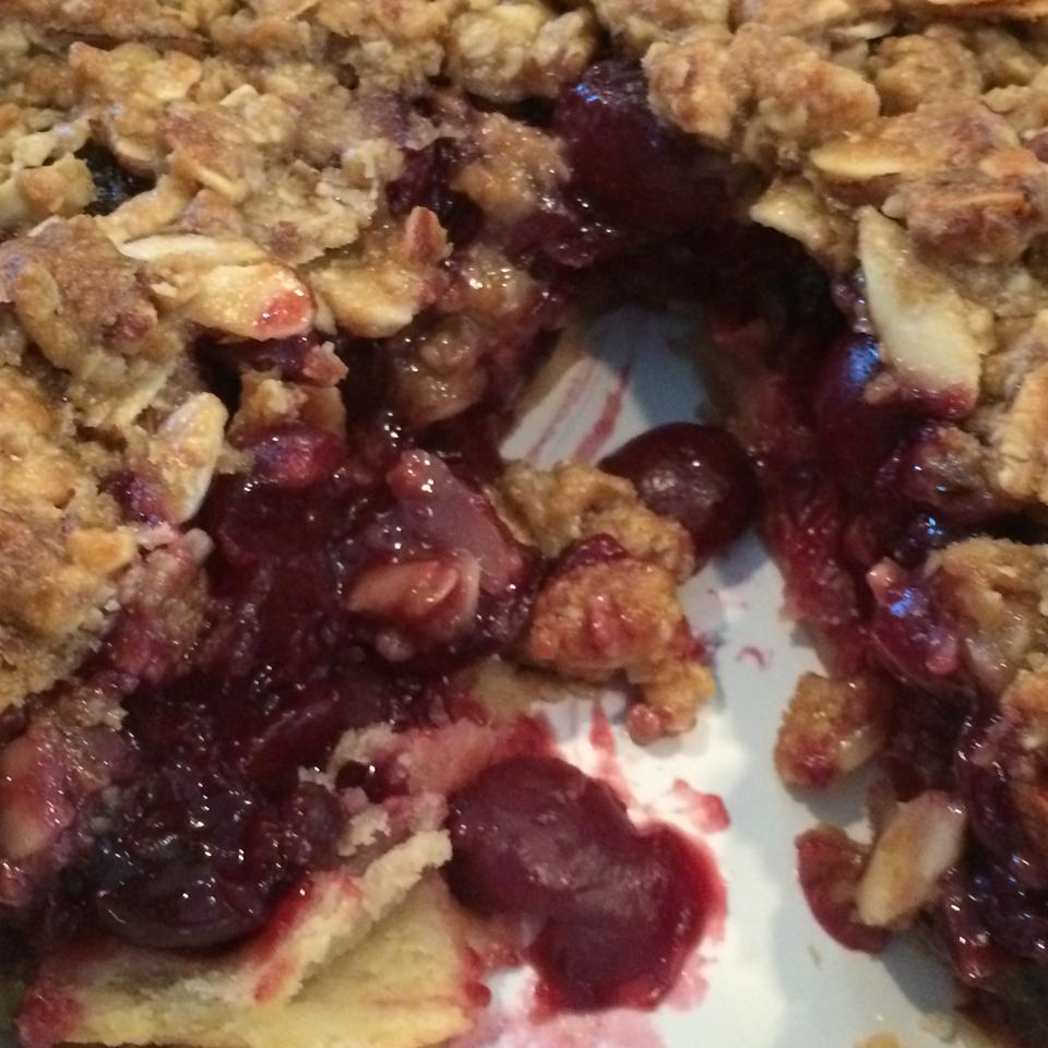 Cherry Pie with Almond Crumb Topping Aria