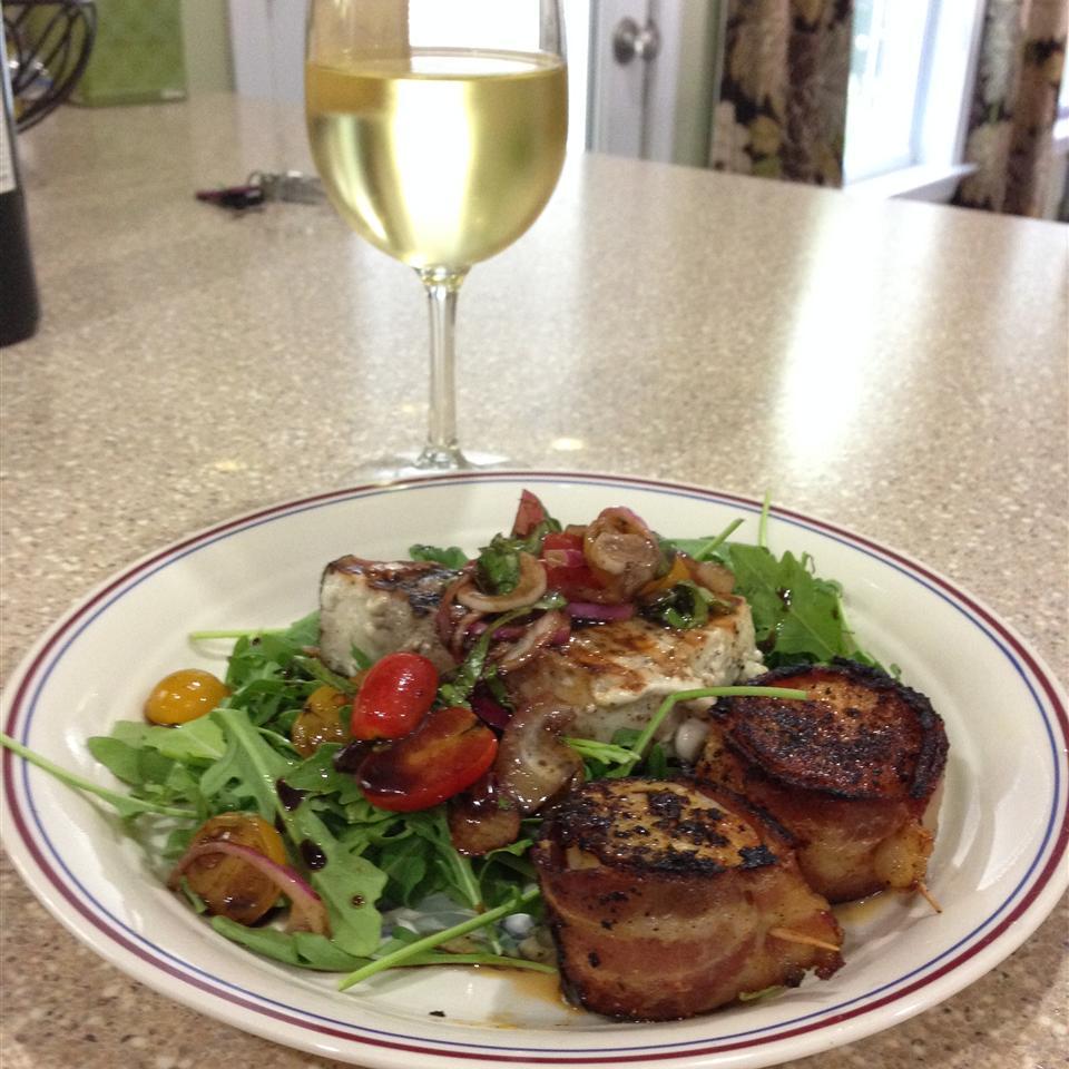 Chef John's Grilled Swordfish Bruschetta sglasow