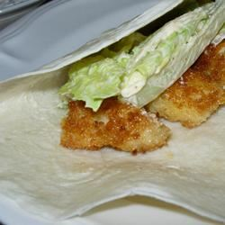 Fish Tacos with Honey-Cumin Cilantro Slaw and Chipotle Mayo KJones