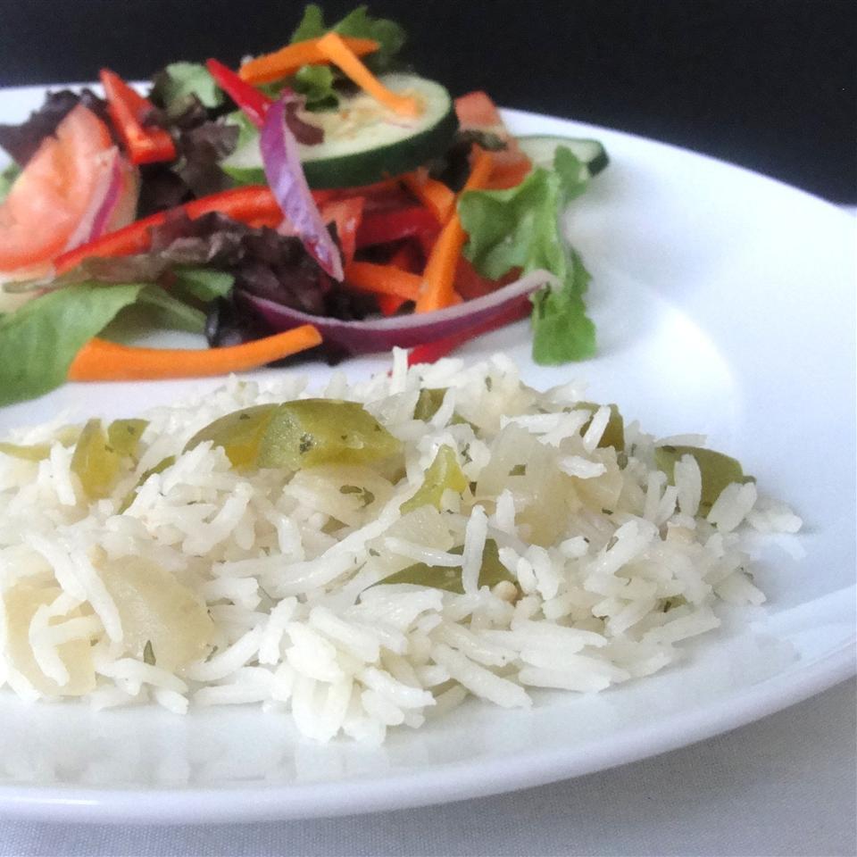 Green Pepper Rice Rock_lobster