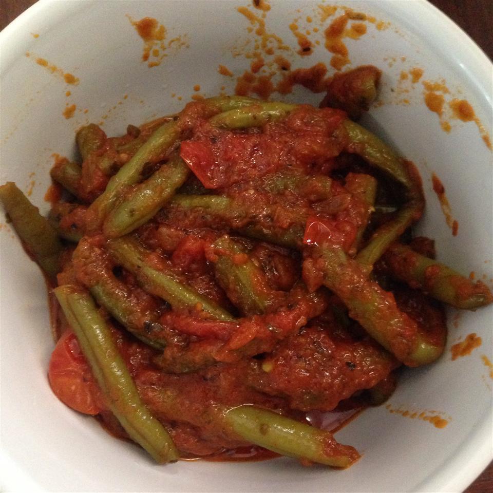Grecian Green Beans in Tomato Sauce Vas