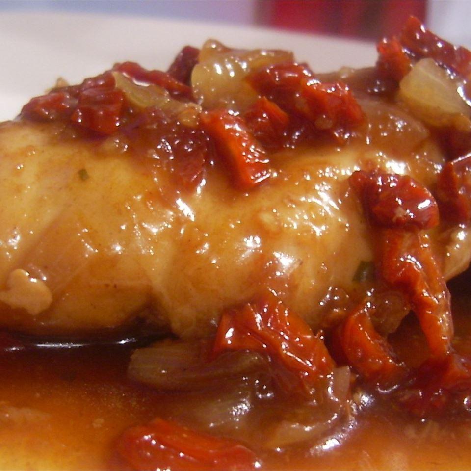 Onion Chicken in Balsamic Sauce