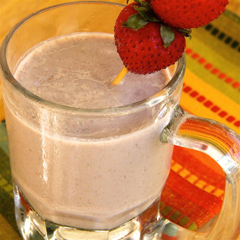 Chocolate, Strawberry, and Banana Smoothie lutzflcat